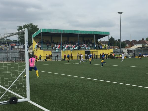 CONIFA World Cup Match Action at Coles Park Stadium