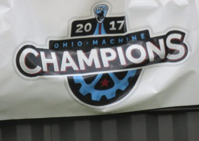 Championship Banner at Fortress Obetz