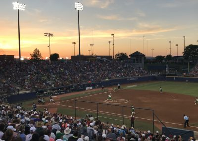 OGE Energy Field at the USA Softball Hall of Fame Complex, Oklahoma Sunset during WCWS