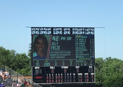OGE Energy Field at the USA Softball Hall of Fame Complex, Scoreboard