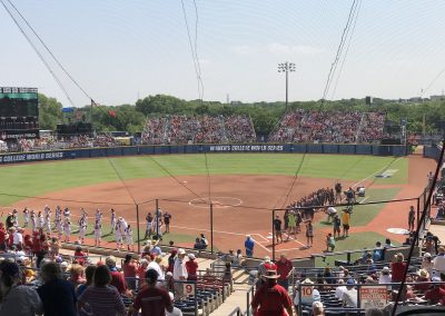 OGE Energy Field at the USA Softball Hall of Fame Complex, View from behind Home Plate