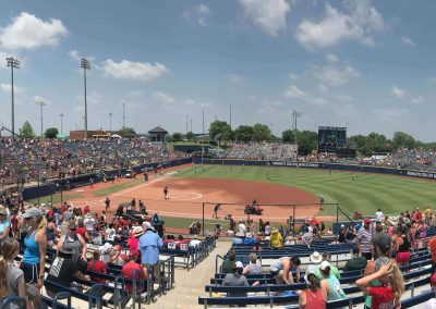 OGE Energy Field at the USA Softball Hall of Fame Complex, View from First Base Concourse