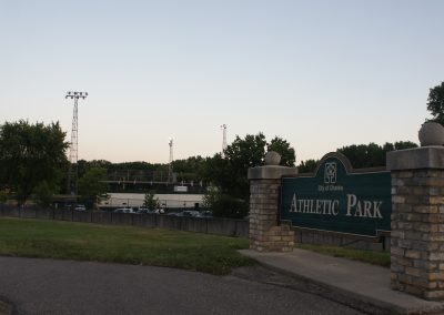 Chaska Athletic Park Entrance Sign