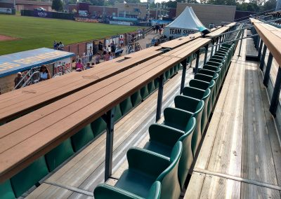 Homer Stryker Field First Base Seats and Tables