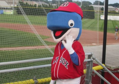 Bay Sox Mascot at Paul Walsh Field