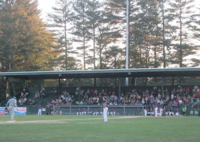 Wooden Grandstand at Alumni Field