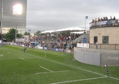 Infinity Park Coaches Corner and Covered Seats
