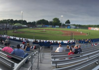 Leo Pinckney Field at Falcon Park, First Base View