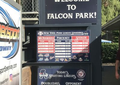 Leo Pinckney Field at Falcon Park, League Standings and Line Up