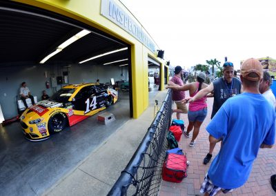 Daytona International Speedway, Fans Viewing Action in the Garages