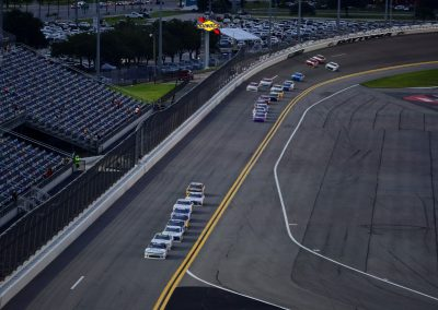 Daytona International Speedway, View down the Front Stretch