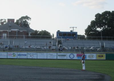 Left Field Bleachers at Spillane Field
