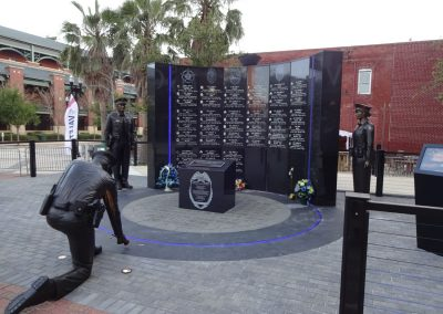 Jacksonville Veterans Memorial Arena, Memorial to Police Officers Outside the Venue
