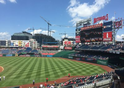 Video Board and Outfield Seats