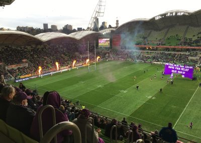 AAMI Park, Melbourne Storm Coming onto the Field