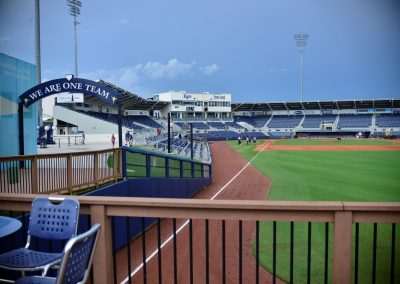 Charlotte Sports Park, View from Boardwalk Seating