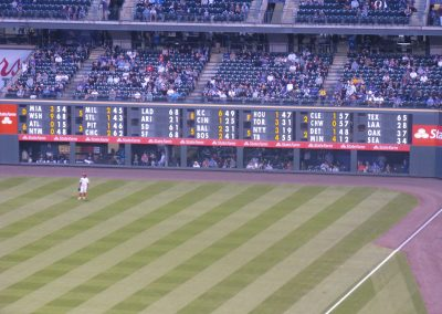 Coors Field - Manual Out of Town Scoreboard