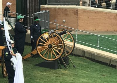Apogee Stadium, Boomer the WWII Cannon waits to be Fired