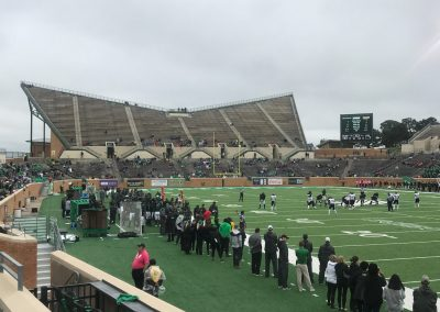 Apogee Stadium, General Admission Section shaped like Eagle Wings