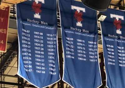 Championship Banners at Varsity Centre