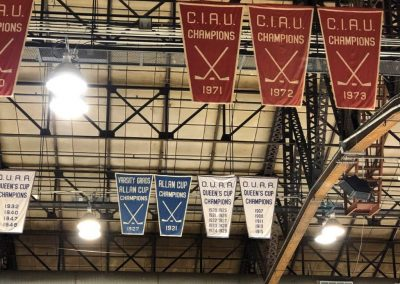 Banners in the Rafters of Varsity Centre