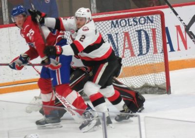 Battle in Front of the Net at CAA Arena
