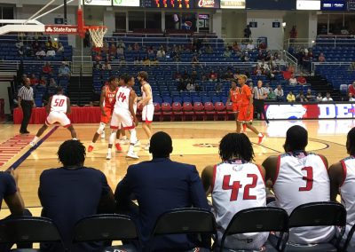 Mitchell Center, View from Courtside