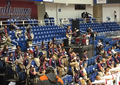 Mitchell Center, View of the Small Pep Band