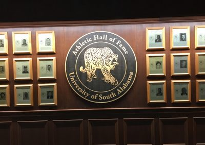 South Alabama Athletics Hall of Fame inside Mitchell Center