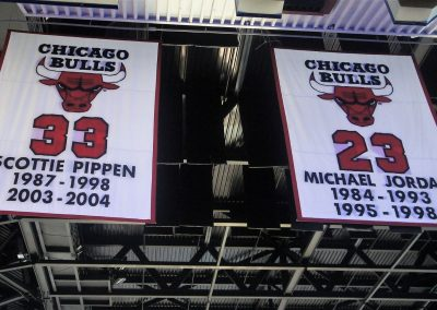 United Center Retired Numbers