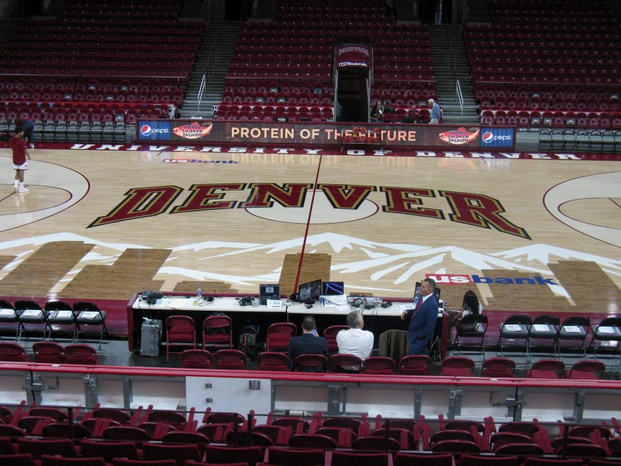 Magness Arena Center Court Inlay