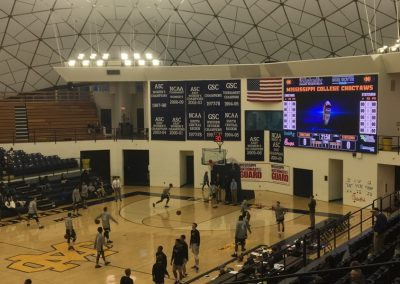 A.E. Wood Coliseum, Mississippi College Players Warming Up during Pre-game