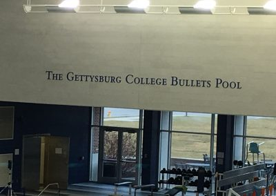 The Gettysburg College Bullets Pool Sign