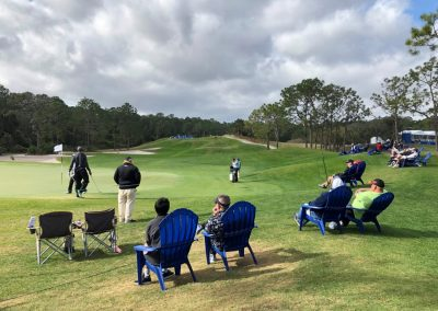 Tranquilo Golf Course, Fans Watch at the 3rd Green