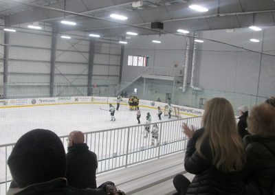 Celebrating a Goal at Worcester Ice Center