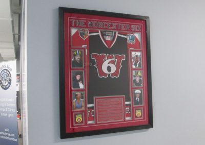 Worcester Six Display at Worcester Ice Center