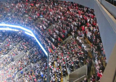 Northeastern Student Section at the Beanpot