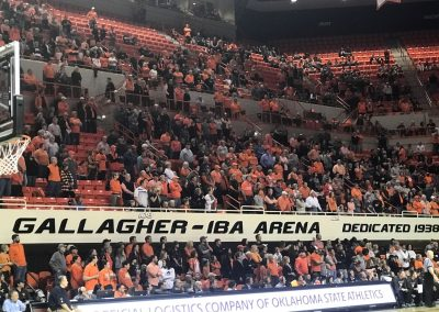 3 Levels of Seating inside Gallagher-Iba Arena