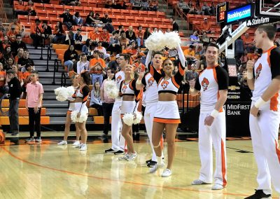 Gallagher-Iba Arena, Oklahoma State Cheer Squad