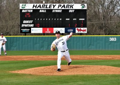Spartans Lefty Delivers Pitch