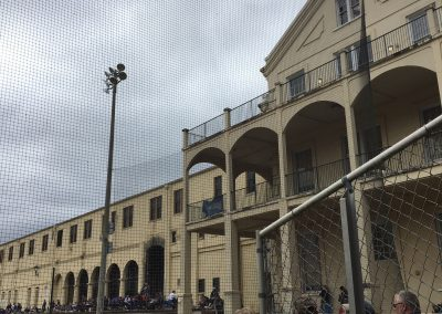 Stan Galle Field, View of the Admin Building from behind Home Plate