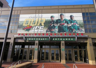 Entrance to Xcel Energy Center