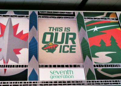 Signage in Xcel Energy Center