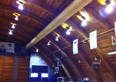 The Hangar Dome, View of the Wooden Ceiling