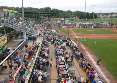 View Down Right Field Line at Warner Park